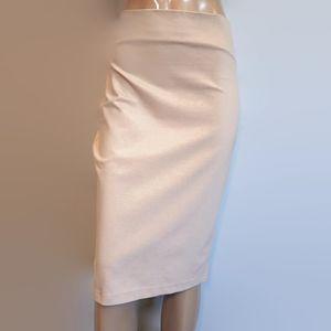 🍁 SEVEN SISTERS Nude High Rise Midi Pencil Skirt